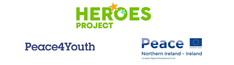 HEROES Youth Project, Peace4Youth and Peace Nothern Ireland-Ireland logos