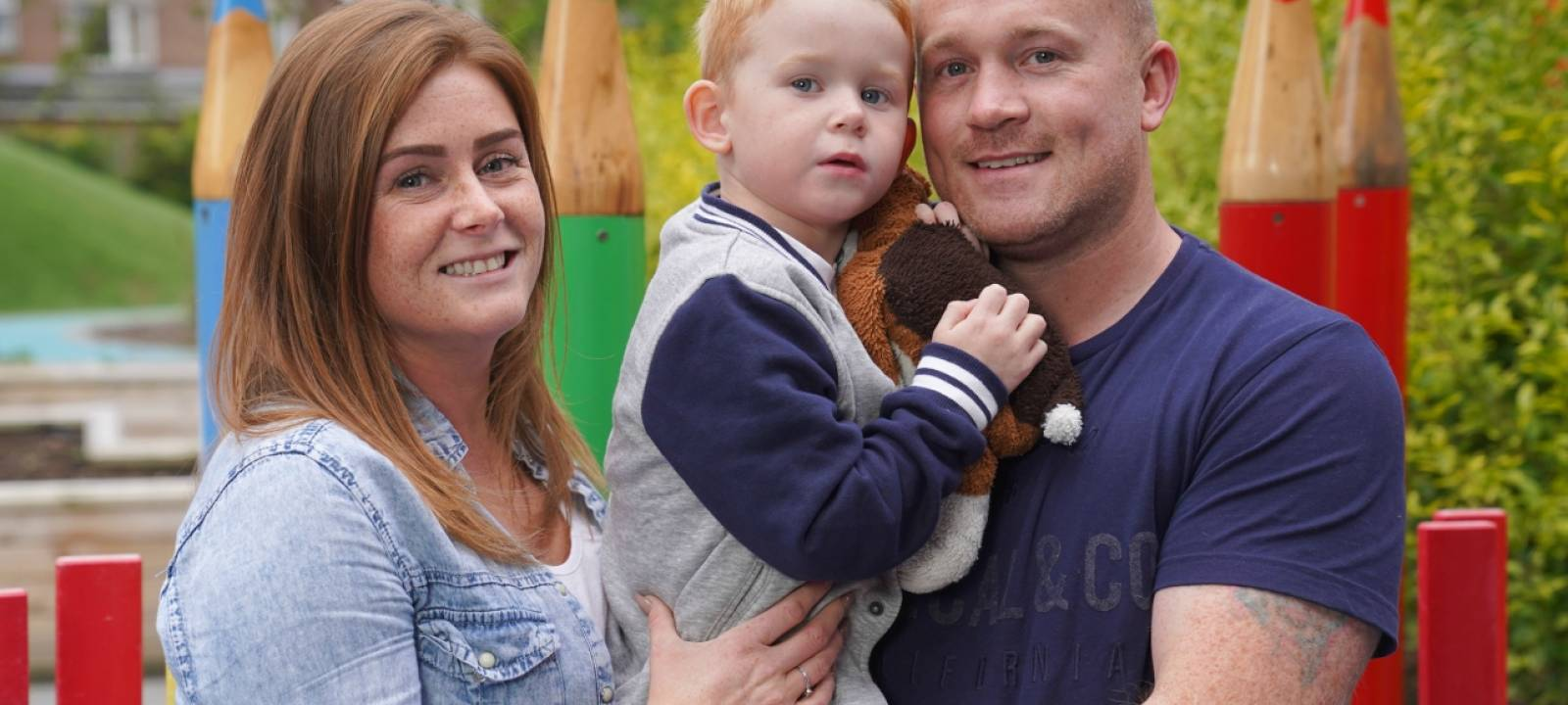 Billy, Julie and Aaron at Mencap Children's Centre