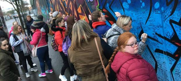 HEROES Youth Project at Belfast Peace Wall